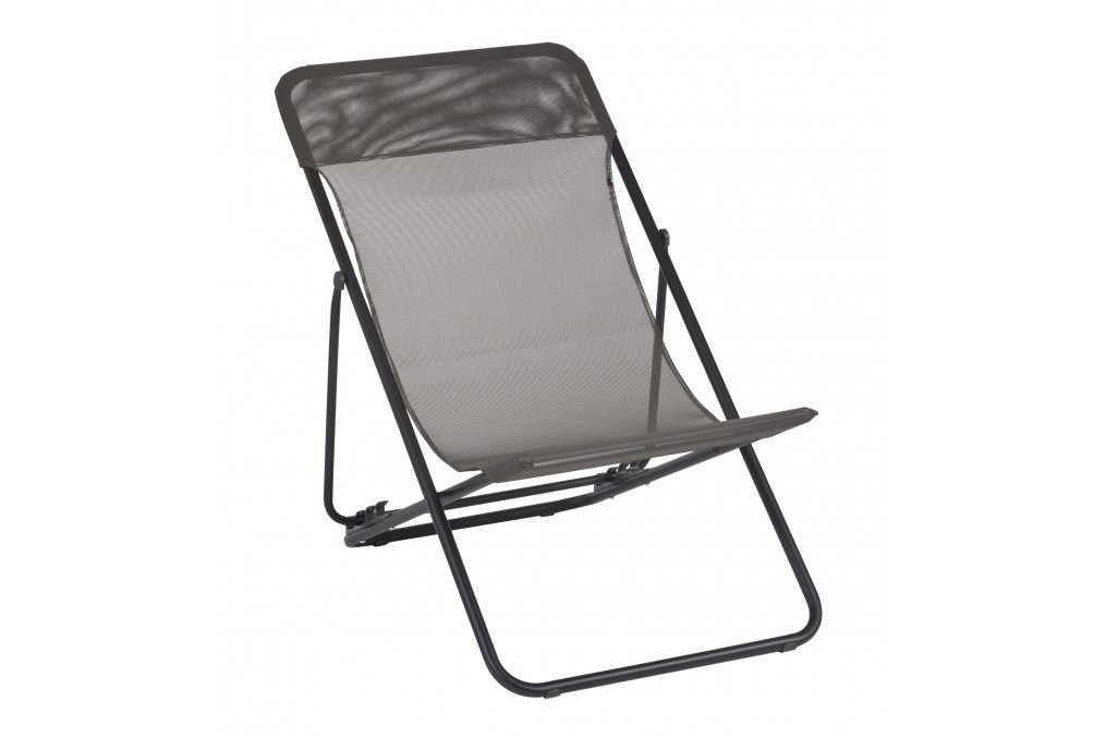 Toile grille relax taupe textilene pas cher pour transat for Transat textilene pas cher